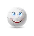Volleyball ball cartoon character vector image