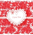 Beautiful Valentine card of wild scarlet flowers vector image