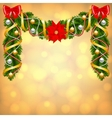Christmas card with fir-tree decoration vector image