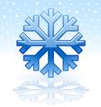 shiny snowflake icon vector image vector image