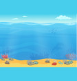 Cartoon sea bottom background for game design vector image