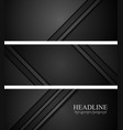 Abstract black tech concept banners vector image