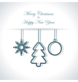 Abstract Christmas or New Year background vector image