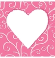 Greeting card template with heart vector image