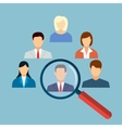 Human resources management select employee vector image