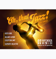 jazz horizontal poster silhouette of saxophone vector image