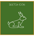 of animal symbol on bunny vector image