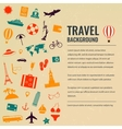 Travel and tourism concept Travel background vector image