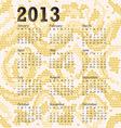 2013 calendar albino snake skin vector image vector image