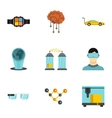 Innovation icons set flat style vector image