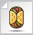 fast food icons 10 vector image