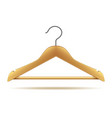 wooden hanger isolated on white vector image