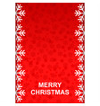 Christmas greeting background with snowflakes vector image