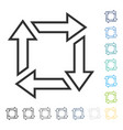 Square recycle icon vector image