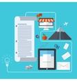 modern business development background vector image