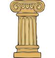 column pedestal vector image