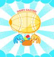 Easter airship vector image vector image
