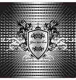 decorative shield vector image vector image