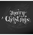 Retro Christmas Card - Christmas Lettering vector image