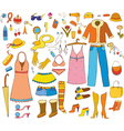 Woman Things Isolated vector image