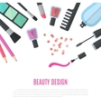 Beauty design Cosmetic accessories for make-up vector image