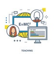 concept of training teaching and tutoring vector image
