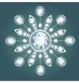 Diamond brooch vector image
