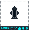Fire hydrant icon flat vector image