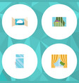 Flat icon frame set of glass frame clean cloud vector image