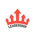leadership icon with red crown vector image