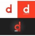 letter D logo design icon set background vector image