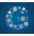 Letter G font frosty snowflakes vector image