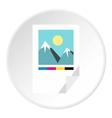 Printed picture icon flat style vector image
