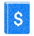 dollar book icon grunge watermark vector image