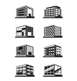 Different facades of buildings vector image