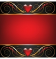Background with jewelry frame vector image