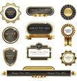 Vintage gold frame banners vector image vector image