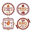 Barbecue logo vector image