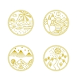 Linear badges and logo vector image vector image