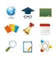 Colorful School Icon Set vector image