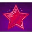 big red star on purple background vector image