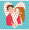 Romantic Couple Holding Hands vector image