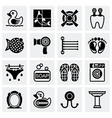 Bathroom icon set vector image