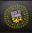 back to school sale in sketch frame vector image