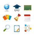 Colorful School Icon Set vector image