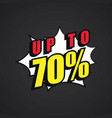 design sale pop art collection vector image
