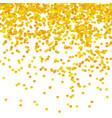 gold confetti pattern vector image