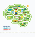 nfographic education human brain shape template vector image
