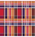 tartan seamless texture mainly in red and blue vector image