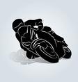 Silhouette of biker vector image